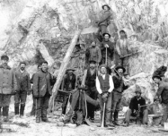 Historical Miners using Pick & Axe